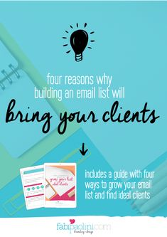 4 reasons why building an email list will bring you clients - Fabi Paolini Home Based Business, Business Tips, Online Business, Email Marketing, Digital Marketing, Marketing Ideas, What To Sell, Email List, How To Start A Blog