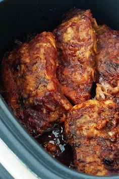 Slow Cooker Bbq Chicken Thighs Bone In . 20 Best Ideas Slow Cooker Bbq Chicken Thighs Bone In . Slow Cooked Bbq Chicken Thighs In Oven Slow Cooker Ribs Recipe, Slow Cooker Bbq Ribs, Slow Cooked Meals, Slow Cooker Recipes, Cooking Recipes, Crockpot Meals, Cooking Time, Baked Barbeque Chicken, Fried Chicken