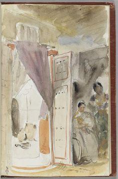 Album de voyage au Maroc, Espagne, Algérie Delacroix Eugène (1798-1863)