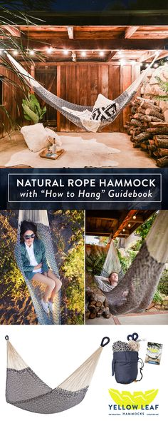 """A Classic Cotton Hammock that comes with the most important thing - a """"How to Hang a Hammock"""" Guidebook!"""