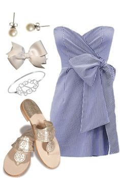 Light Blue Strapless Summer Dress fashion summer fashion accessories sandals strapless summer dress