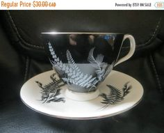 ON SALE 1950s ROYAL Albert Night and Day Black by HolySerendipity
