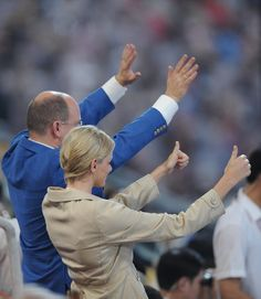 Pin for Later: Get to Know Princess Charlene of Monaco, the New Royal Mom!  Monaco's Prince Albert II and then-girlfriend Charlene Wittstock attended the opening ceremony of the 2008 Beijing Olympic Games.
