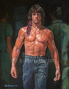 Sylvester Stallone Rambo, Stallone Movies, Silvester Stallone, Action Movie Stars, Classic Motorcycle, Muscle, The Expendables, Tough Guy, Bodybuilding Motivation