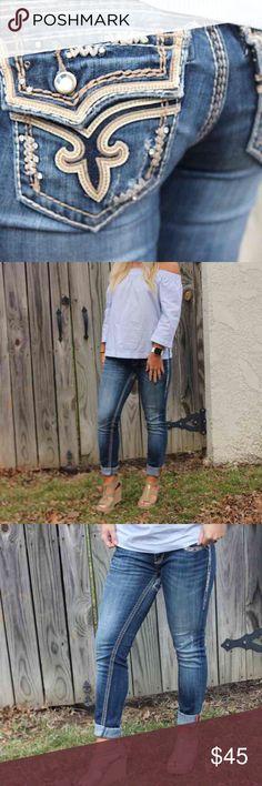 Spotted while shopping on Poshmark: Kai skinny jeans has rips! #poshmark #fashion #shopping #style #Rock Revival #Denim