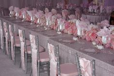 Tiffany cashmere pink chair runner | Linen Effects - Minneapolis, MN | Linen and table decor rentals