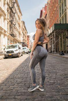 Nikki Blackketter working the Flex Leggings and Seamless Sports Bra