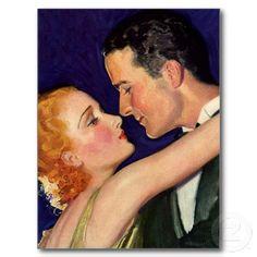 Amor e romance do vintage, Hollywood romântico Cartões Postais