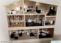 My next project (may co-run with my current one...): get hold of an old Lundby house and give it a modern makeover with a mixture of refurbished vintage, modern, and handmade furniture. I LOVE this. Makes me wish I'd kept my old one now!