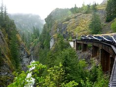 Rocky Mountaineer - Train Trip to Whistler. I can smell the fresh clean mountain air just looking. #scentsyhoneymoon