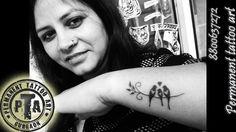 Bird tattoo design, bird tattoo design on wrist, black birds tattoo, Bird tattoo design with black shading, love bird tattoo design, birds tattoo design on neck, bird tattoo design for girls Done by -Deepak Karla 8800637272 AT- Permanent tattoo art, Gurgaon Delhi/NCR