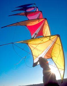Prism Micron Stunt Kite Stack of Five Kites