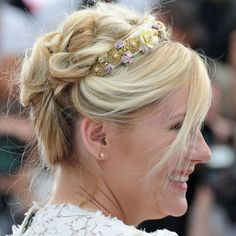 Kirsten Dunst's Cannes braided do.