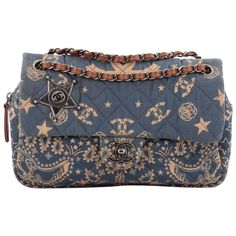 Chanel Paris-Dallas Bandana Flap Bag Quilted Canvas Medium   From a collection of rare vintage shoulder bags at https://www.1stdibs.com/fashion/handbags-purses-bags/shoulder-bags/