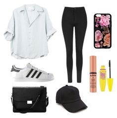 """simple outfit"" by auliaarist on Polyvore featuring Topshop, adidas, Aspinal of London, rag & bone, NYX and Maybelline"
