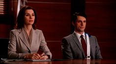 'The Good Wife' is the TV-series that defies gravity and just gets BETTER with each season! Season 5 was outstanding - can't wait for 6. Here is Alicia Florrick, the said wife of the series (played by Julianna Margolies) and Finn Polmar (Matthew Goode), two of the  most lovable characters in the series.