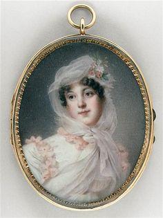 Jean-Baptiste Isabey, Portrait de Louise Antoinette Lannes, Duchess of Montebello