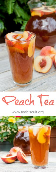Delicious Iced Tea made with real peaches! | Real fresh peaches, in season, and local if  can only improve this recipe tenfold, but even ripe out of season peaches tasted great. @sheenastrain