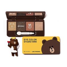 Missha X Line Friends Eye Color Studio Mini 02 Brown Brownie ** Check out the image by visiting the link.