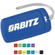 This luggage tag features a write-on surface on the back side for easy identification. Includes a sturdy strap for fixing onto the handles or zipper pulls of baggage. Ideal for travel agencies, resorts, and transportation companies. Consider these luggage tags when promoting at conventions, trade shows, and seminars. Customizable with company name and logo. Available in 12 colors. Made in the USA.  Up to 4 assorted colors available at no additional charge.