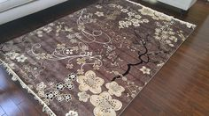 Brown Grey Ivory Black New Silk Traditional Isphan Area Rugs Ultra Low Pile 2'2x3'7 70x100cm 571brown * Quickly view this special deal, click the image : Free Home and Kitchen
