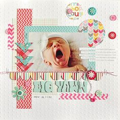 #papercraft #scrapbook #layout Big Yawn