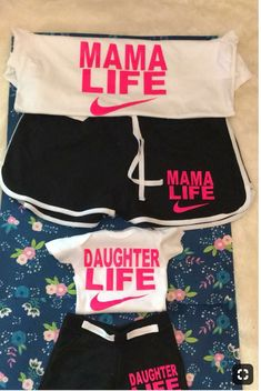 Baby Girl Stuff Daughters Matching Outfits 50 Ideas For 2019 Mother Daughter Matching Outfits, Mom Daughter, Matching Family Outfits, Mother Daughter Shirts, Mother Daughter Fashion, Mommy And Me Shirt, Mommy And Me Outfits, Kids Outfits, Baby Outfits