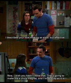 Amy and Sheldon of the Big Bang Theory