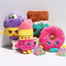 NEW Shopkins plush toy Muffin doughnut lipsticks Chocolate 4PCS Kid's Gift
