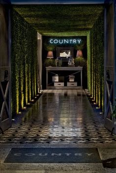 restaurant entrance Country Bistro in Mexico City-- would love to eat here just to look at the fabulous and inspiring decor. the entire restaurant is amazing! Modern Restaurant, Restaurant Interior Design, Cafe Restaurant, Design Hotel, Cafe Bar, Cafe Design, Store Design, Design Design, Commercial Design