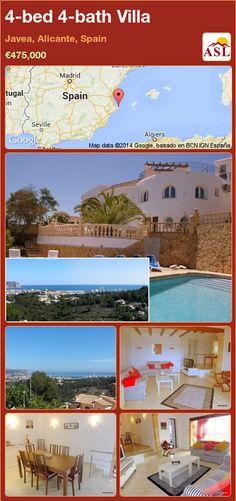 4-bed 4-bath Villa in Javea, Alicante, Spain ►€475,000 #PropertyForSaleInSpain