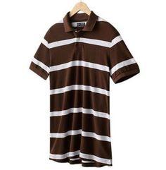 NWT Chaps Custom-Fit Striped Short Sleeve Polo Shirt