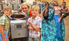 El verano más familiar de Britney Spears