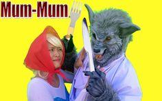 Carnivorous wolf Frozen Elsa Red Riding Hood, Spiderman vs Joker hair Fu...