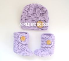 Matching Hat & Booties #crochet #musthave #socute