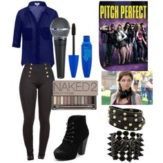 *becca's finals outfit (pitch perfect) by beautybabe5 on Polyvore featuring Therapy, Eddie Borgo, Brahmin and Urban Decay