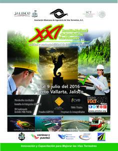 Enterate de la próxima Reunión Nacional de Ingeniería de Vías Terrestres a celebrarse en la ciudad de Puerto Vallarta, Jalisco., del 6 al 9 de julio de 2016.
