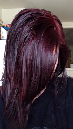 Dark Red Hair Color-dark red and red hair colors - New Hair Chocolate Cherry Hair Color, Black Cherry Hair Color, Cherry Hair Colors, Hair Color And Cut, Hair Color Dark, Color Red, Violet Red Hair Color, Chocolate Red Hair, Black To Red Hair