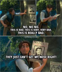 Quotes Disney Tangled Flynn Rider Ideas For 2019 Funny Disney Jokes, Disney Movie Quotes, Best Disney Movies, Disney Memes, Movie Memes, Funny Humor, Tangled Funny, Tangled 2010, Disney Tangled
