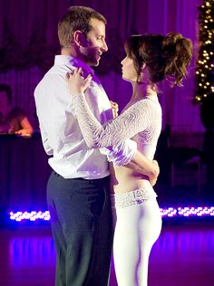 """""""silver linings playbook"""" Bradley Cooper and Jennifer Lawrence. I LOVED LOVED LOVED this movie. everyone. go see it."""