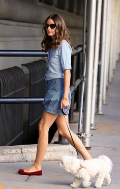 Tommy Hilfiger top, vintage skirt, shoes by Tibi, bag by Valentino