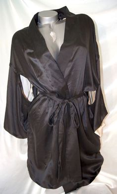 M/L~Victorias Secret 100% SILK ROBE Womens Bathrobe Kimono Spa Wrap  ~NWT  #VictoriasSecret #Robes