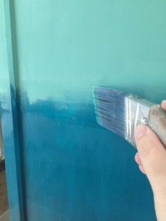 Want to bring a beachy boho look into your home? Create a blended ombre dresser with this fun painting technique. This furniture makeover is easier than you think! - June 15 2019 at Painted Bedroom Furniture, White Furniture, Rustic Furniture, Antique Furniture, Furniture Decor, Furniture Design, Cheap Furniture, Discount Furniture, Luxury Furniture