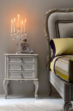 Versatile and above all truly striking in any setting, the High End Ornate Italian Bedside Cabinet at Juliette's Interiors. Make a statement!