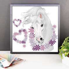 Equestrian Art - Romantic Horse Head - Framed Poster - $32.00