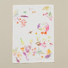 Watercolor Flora Tea Towel | 36 Tea Towels That Are Way Too Cute To Actually Use