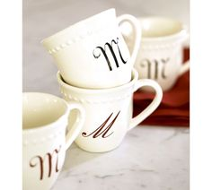 Monogrammed Coffee Mugs - Our Family Journey
