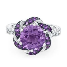 Amethyst & Diamond Ring in Sterling Silver #HelzbergDiamonds #MothersDay