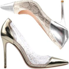 Gold and Silver Shoes - Gold and Silver Holiday Shoes Winter 2013 - Harper's BAZAAR