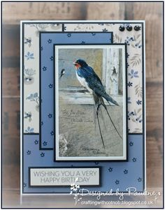 Tracey will be at Create and Craft today at 9 am for a Deal show, there will be lots of paper pads and the Pollyanna Pickering Garden Fr. Birthday Cards For Men, Handmade Birthday Cards, Create And Craft Tv, Hunkydory Crafts, Christian Cards, Bird Cards, Some Cards, Card Sketches, Masculine Cards